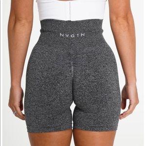 NVGTN Black Speckled SCRUNCH Seamless Shorts - SM